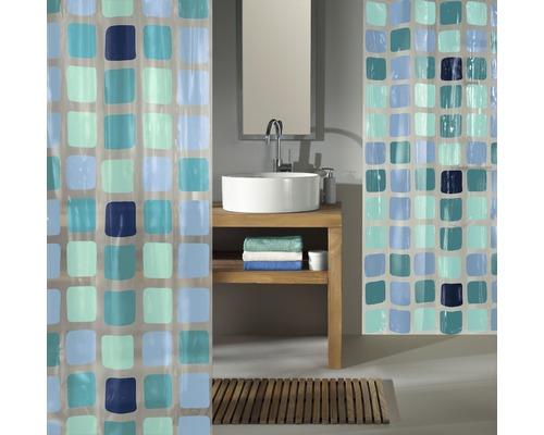 Rideau de douche Kleine Wolke Sonny bleu 180 x 200 cm