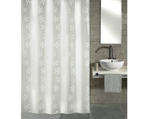 Rideau de douche Kleine Wolke Viva blanc 180 x 200 cm