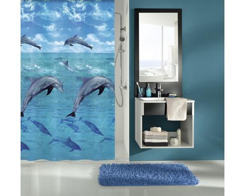 Rideau de douche Kleine Wolke Dauphin multicolore 180 x 200 cm