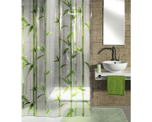 Rideau de douche Kleine Wolke vert Bambú 180x200cm