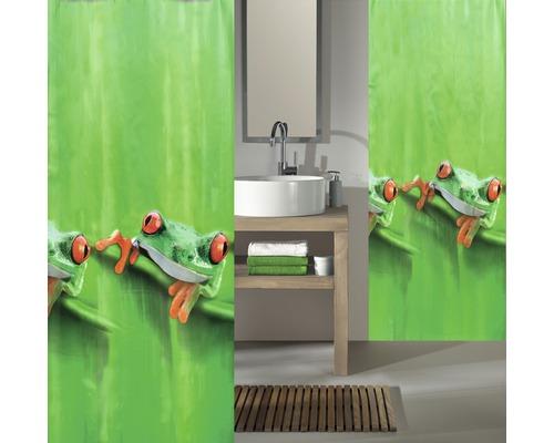 Rideau de douche Kleine Wolke Charlie vert 180 x 200 cm