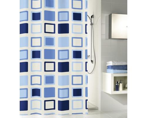 Rideau de douche Kleine Wolke Clipper bleu 120 x 200 cm