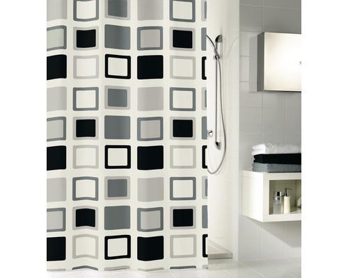 Rideau de douche Kleine Wolke Clipper gris 120x200cm