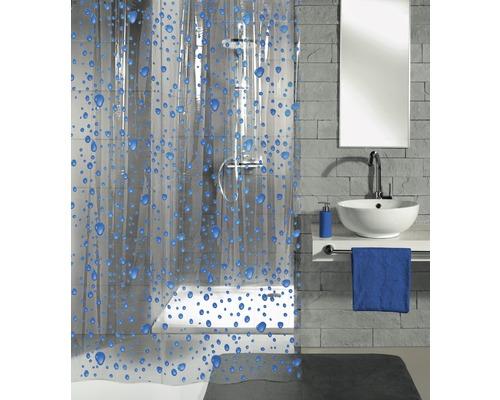 Rideau de douche Kleine Wolke Bubble bleu 180 x 200 cm