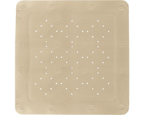 Tapis antidérapant pour douche Kleine Wolke Calypso 55 x 55 cm beige