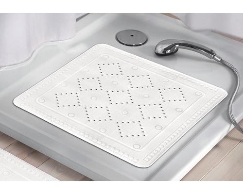 Tapis antidérapant pour douche Kleine Wolke Arosa 55 x 55 cm blanc