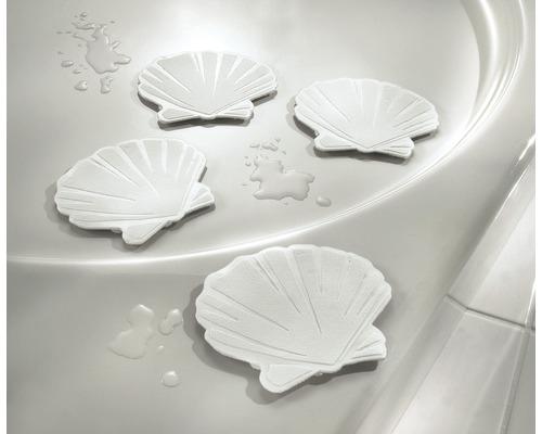 6 autocollants antidérapants Kleine Wolke Coquillages blancs