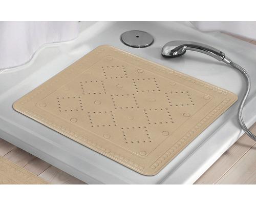 Tapis antidérapant pour douche Kleine Wolke Arosa 55 x 55 cm beige