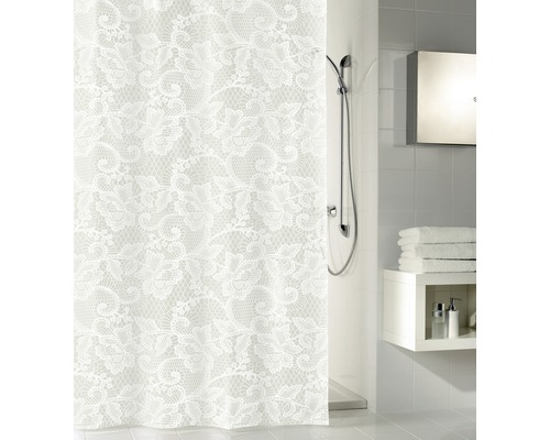 Rideau de douche Kleine Wolke Dentelle blanc 180 x 200 cm - HORNBACH ...