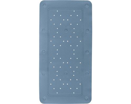 Ensemble tapis de baignoire Kleine Wolke Calypso 2 pièces bleu 72 x 36 cm avec coussin de nuque