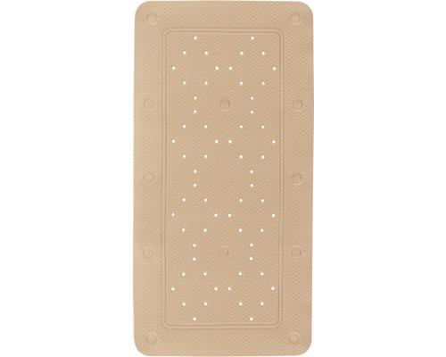 Ensemble tapis de baignoire Kleine Wolke Calypso 2 pièces beige 72 x 36 cm avec coussin de nuque