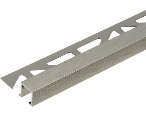 Profilé de finition Dural Squareline DPSA 1063 10 mm longueur 250 cm, aluminium titane brossé