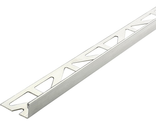 Profilé de finition Dural Durosol 8mm longueur 250 cm, acier inoxydable