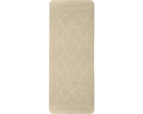 Tapis antidérapant pour baignoire Kleine Wolke Arosa 92 x 36 cm beige
