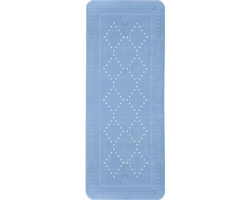 Tapis antidérapant pour baignoire Kleine Wolke Arosa 92 x 36 cm bleu