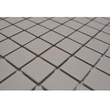 Mosaïque céramique Quadrat uni beige clair non émaillé 32.7x30.2cm-thumb-4