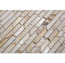 Mosaïque en pierre naturelle Quadrat golden cream poli 30.5x32.2cm-thumb-4