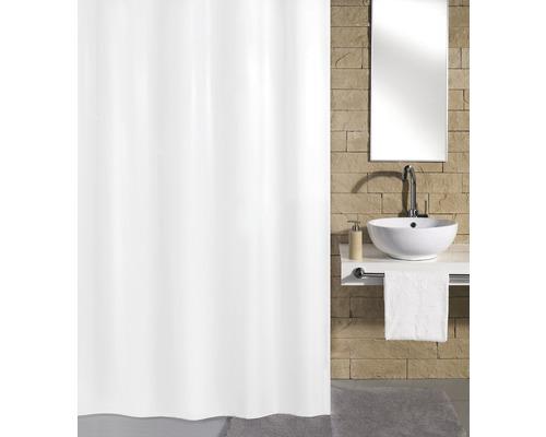 Rideau de douche Kleine Wolke Kito blanc neige 240x180 cm