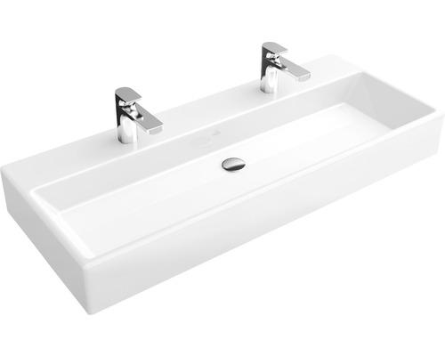 Vasque double Villeroy & Boch Memento 100 cm blanc avec revêtement 5133A1R1