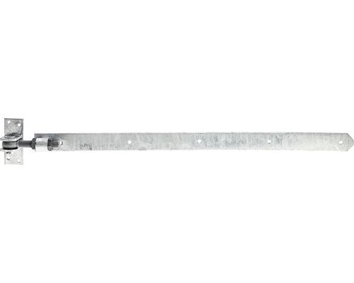 Paumelle de volet droite, profilé de finition arrondi, réglable, 660 mm