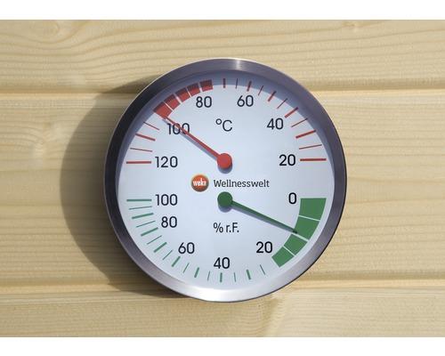 Dispositif de mesure du climat pour sauna Weka avec hygrimètre et thermomètre