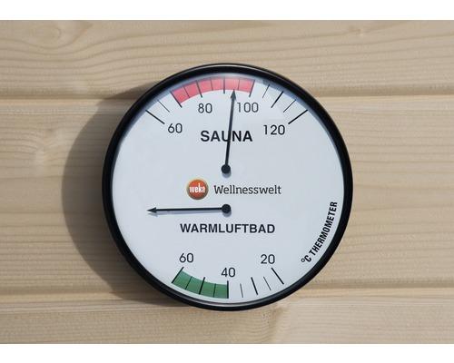 Double hygromètre pour sauna Weka Ø160mm avec 2afficheurs