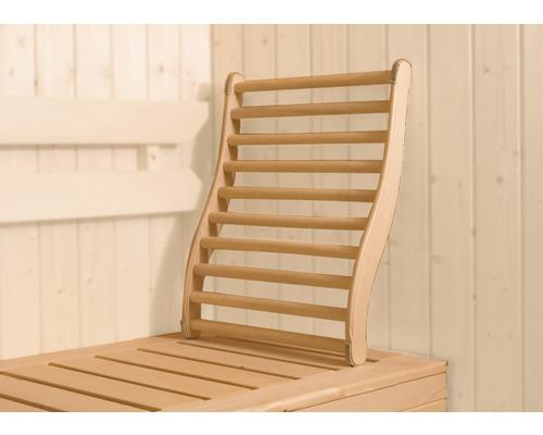 Support lombaire pour sauna Weka en bois