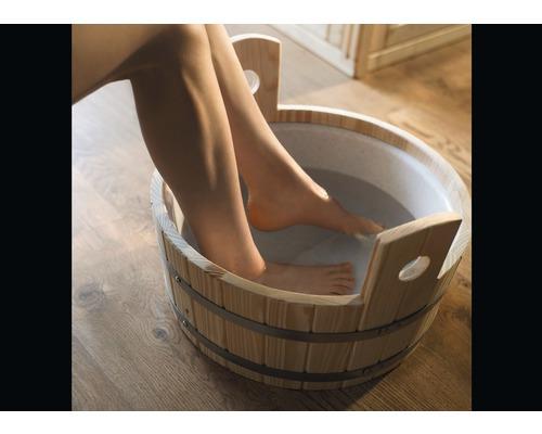 Seau pour bain de pieds Weka Ø37cm en bois avec insert plastique
