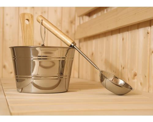 Kit d''évier pour sauna en Weka, acier inoxydable