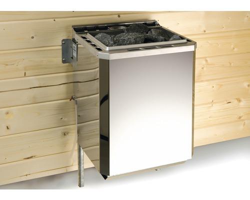 Ensemble de poêle de sauna Weka pack technique 2 9kW avec commande externe Easy Bio et coque d''amortissage