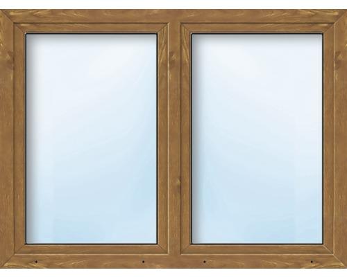 Fenêtre en PVC 2 battants ARON Basic blanc/golden oak 1600x500 mm