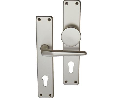 Garniture pour plaque longue PZ (72 mm) Tanja alu F1, bouton et poignée