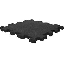 Dalle de protection anti-chute puzzle pièce intermédiaire 53,4x50x2,5cm noir-thumb-1