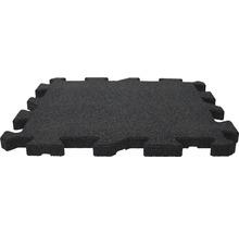 Dalle de protection anti-chute puzzle pièce intermédiaire 53,4x50x2,5cm noir-thumb-2