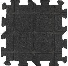 Dalle de protection anti-chute puzzle pièce intermédiaire 53,4x50x2,5cm noir-thumb-3