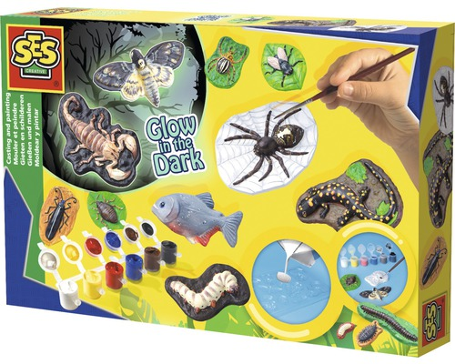 Kit créatif moulage d''animaux effrayants Glow in the Dark 10pièces