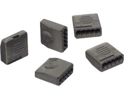 Bornier à enficher 5 x 0,5 - 2,5 mm² gris 25 pièces