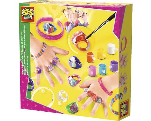 Kit créatif bagues et bracelets décorés 13pièces