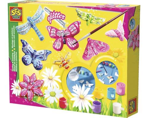 Kit créatif moulage de papillons brillants 10pièces