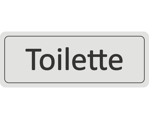 Panneau de porte «Toilettes» autocollant 45x120 mm