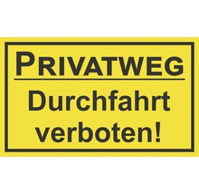 Panneau «Voie privée - Passage interdit» 250x150 mm-thumb-0