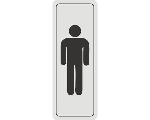 Panneau de porte «Toilettes messieurs» autocollant 45x120 mm