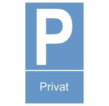 Panneau «Parking privé» 150x250 mm-thumb-0