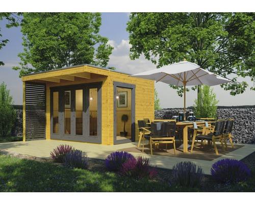 Abri de jardin Konsta Pollux avec membrane de toiture KSK-M et plancher  337x280 cm chêne clair