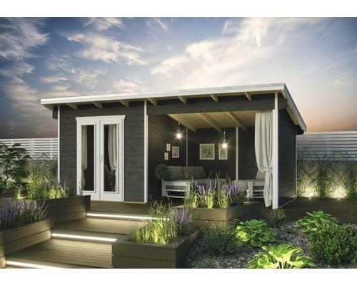 Abri de jardin SKAN HOLZ Texel avec plancher 550x250cm gris terre cuite