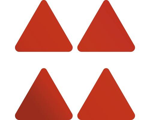 Jeu d''autocollants réfléchissants à paillettes triangles 110x90 mm