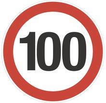 Autocollant «Limite de vitesse 100km/h» Ø200mm-thumb-0