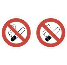 Autocollant «Interdiction de fumer» Ø45mm, 2pièces-thumb-0