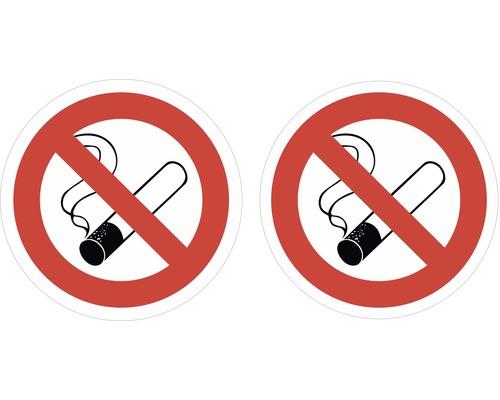 Autocollant «Interdiction de fumer» Ø45mm, 2pièces-0
