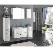 Armoire de toilette à trois portes 80x66 cm blanc-thumb-2